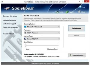 PGWare GameBoost 3.12 Crack + PC Games and Internet Faster Free